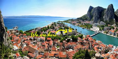 Apartementen Sunce - in center with parking: A1(2+3) Omis - Riviera Omis